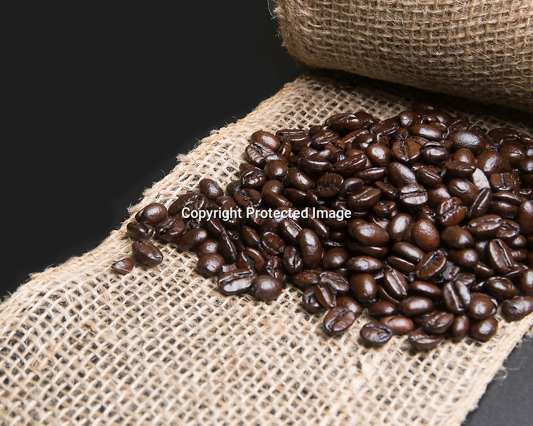 Stock photo coffee beans