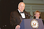 Vice President Dick Cheney speaks at The Larry King Cardiac Foundation Gals held at The Ritz Carlton Hotel  in Washington DC. Professional Image Photography by John Drew