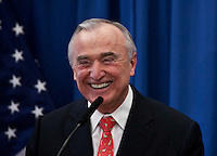 Bill Bratton attends a press conference where De Blassio named Him  to  lead the New York Police Department. New York December 05, 2013, Photo by Kena Betancur / VIEWpress.