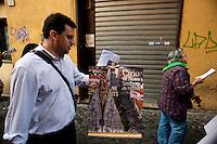 Roma 10 Ottobre 2010.Festa  della Nossa Senhora da Conceição Aparecida  (Nostra Signora della Concezione di Aparecida), la patrona del Brasile, che si festeggia il 12 ottobre e la comunita' brasiliana di Roma festeggia con una processione per le vie del centro storico..Rome 10 October 2010.Feast of Nossa Senhora da Conceição Aparecida (Our Lady of Conception Aparecida), the patron saint of Brazil, which is celebrated on October 12 and the community Brazilian Roma celebrated with a procession through the streets of Old Town.