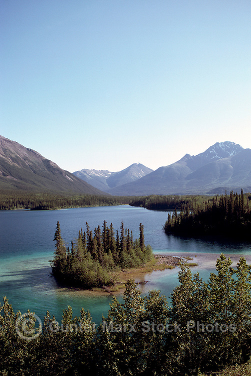 """""""Good Hope"""" Lake and Cassiar Mountains, BC, Northern British Columbia, Canada - along Stewart Cassiar Highway 37, Summer"""