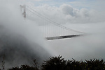 Golden Gate Bridge and fog from Marin Headlands