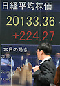 Tokyo Stock Exchange market on Wednesday, April 22, 2015
