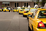 Taxi's lining up to pick up passengers at the King Street Railroad  Station Seattle Washington