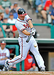6 March 2012: Atlanta Braves outfielder Todd Cunningham in action during a Spring Training game against the Washington Nationals at Champion Park in Disney's Wide World of Sports Complex, Orlando, Florida. The Nationals defeated the Braves 5-2 in Grapefruit League action. Mandatory Credit: Ed Wolfstein Photo