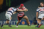 Jeremiah Fatialofa pushes off Hadleigh Parkes as he makes a run a Angus Ta' avao. ITM Cup Round 7 rugby game between Auckland and Counties Manukau, played at Eden Park, Auckland on Thursday August 11th..Auckland won 25 - 22.
