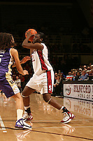 23 February 2006: Eziamaka Okafor during Stanford's 100-69 win over the Washington Huskies at Maples Pavilion in Stanford, CA.