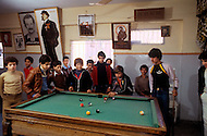 March 1982, Lebanon, daily scenes in a youth center of Shatila camp.
