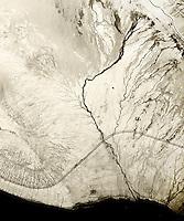 historical aerial photograph of Salton Sea, Imperial County, California, 1954