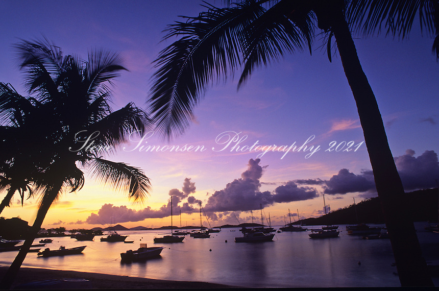 Cruz Bay Sunset.St. John.U.S. Virgin Islands
