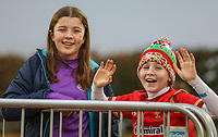 Some young Wales fans enjoy the atmosphere before kick off<br /> <br /> Photographer Alex Dodd/CameraSport<br /> <br /> RBS Six Nations U20 Championship Round 4 - Wales U20s v Ireland U20s - Saturday 11th March 2017 - Parc Eirias, Colwyn Bay, North Wales<br /> <br /> World Copyright &copy; 2017 CameraSport. All rights reserved. 43 Linden Ave. Countesthorpe. Leicester. England. LE8 5PG - Tel: +44 (0) 116 277 4147 - admin@camerasport.com - www.camerasport.com