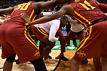 MILWAUKEE, WI - MARCH 18: The Iowa State Cyclones huddle up before the 2017 NCAA Men's Basketball Tournament held at BMO Harris Bradley Center on March 18, 2017 in Milwaukee, Wisconsin. (Photo by Jamie Schwaberow/NCAA Photos via Getty Images)