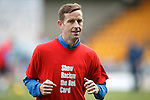 St Johnstone v Partick Thistle....17.10.15  SPFL     McDiarmid Park, Perth<br /> Steven MacLean wearing a Show Racism the Red Card t-shirt<br /> Picture by Graeme Hart.<br /> Copyright Perthshire Picture Agency<br /> Tel: 01738 623350  Mobile: 07990 594431