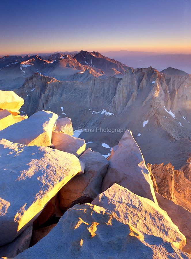 Mt. Whitney  Sunrise, Sierra Nevada CA.