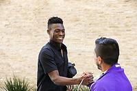 San Jose, CA - Wednesday May 17, 2017: Fatai Alashe prior to a Major League Soccer (MLS) match between the San Jose Earthquakes and Orlando City SC at Avaya Stadium.