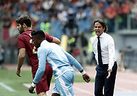 Calcio, Serie A: Roma, stadio Olimpico, 30 aprile 2017.<br /> Lazio's coach Simone Inzaghi gestures to players during the Italian Serie A football match between AS Roma an Lazio at Rome's Olympic stadium, April 30 2017.<br /> UPDATE IMAGES PRESS/Isabella Bonotto