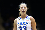 22 March 2014: Duke's Haley Peters. The Duke University Blue Devils played the Winthrop University Eagles in an NCAA Division I Women's Basketball Tournament First Round game at Cameron Indoor Stadium in Durham, North Carolina.
