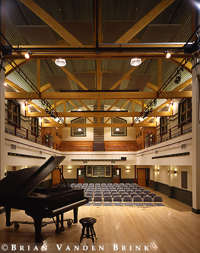 Turner Brooks Architect.Performing Arts Center.College of the Atlantic.Bar Harbor, Me.