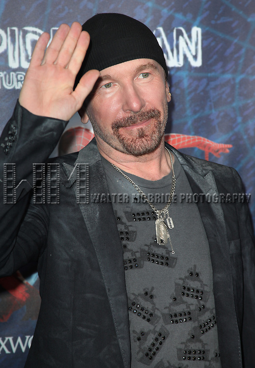 The Edge.attending the Opening Night Performance of 'Spider-Man Turn Off The Dark' at the Foxwoods Theatre in New York City.