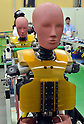 "July 21st, 2011, Susonosi, Japan - Various types of dummies for experiments stand by in their waiting room at Toyotas Higashi-Fuji Technical Center on the foot of Mt. Fuji, some 92km (about 57 miles) southwest of Tokyo, on Thursday, July 21, 2011. Toyota showed to reporters technologies aimed at increasing safety for pedestrians and elderly drivers, as part of its initiatives to eliminate traffic casualties. The technologies include a Pre-Collision System with collision-avoidance assist, glare-preventing adaptive driving beams and a pop-up hood for lessening pedestrian injury. In the PCS, Toyota uses cameras and a super sensitive radar called ""millimeter-wave,"" both installed in the front of the vehicle, to detect possible crashes such as a pedestrian crossing the road. Then the vehicle calculates how braking and steering must be applied to avoid a crash. (Photo by Natsuki Sakai/AFLO) [3615] -mis-"