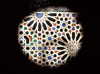 Detail of Mosaic, Hall of the Mexuar, The Mexuar Palace, 14th century, under the reign of Isma?il I, substantial alterations during the reign of Yusuf I (1333 ? 1354) and of his son Muhammad V (1354 ? 1359, 1362 ? 1391), The Alhambra, Granada, Andalusia, Spain. Picture by Manuel Cohen