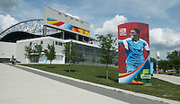 Winnipeg, Canada- June 5, 2015: Winnipeg Stadium stands ready for the group games of the FIFA Women's World Cup.