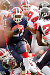 25 September 2005: Willis McGahee (21), Runningback for the Buffalo Bills, rushes for a gain in yardage during a game against the Atlanta Falcons. The Falcons defeated the Bills 24-16 at Ralph Wilson Stadium in Orchard Park, NY.<br /><br />Mandatory Photo Credit: Ed Wolfstein.