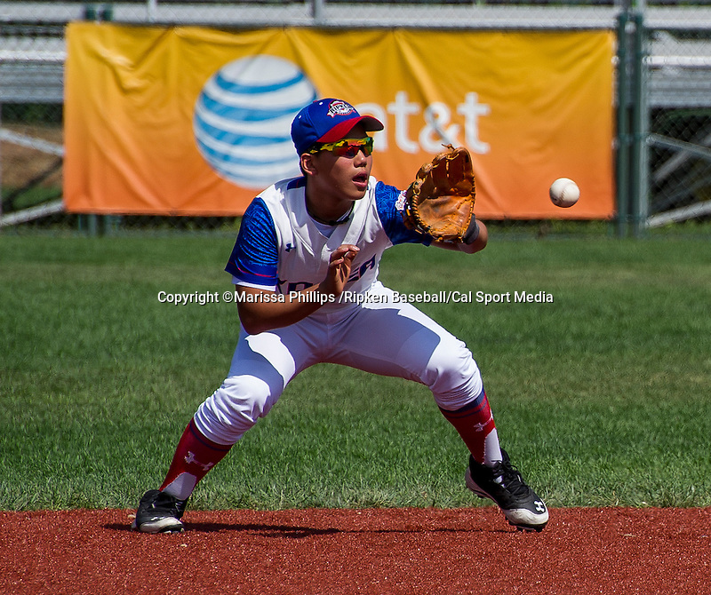 August 13, 2014: Scenes from Korea against Mexico during the Cal Ripken 12u 70-foot World Series at the Ripken Experience powered by Under Armour in Aberdeen, Maryland on August 13, 2014. Marissa Phillips /Ripken Baseball/CSM