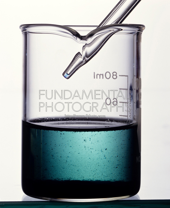 DISSOLVING OF CuS(s) AND TEST FOR Cu2+(aq)<br /> (1 of 2)<br /> Copper Sulfide (s) Reacts With Nitric Acid (aq) to produce a pale blue aqueous solution containing Cu2+ and a precipitate of elemental sulfur.