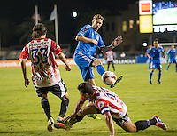 SANTA CLARA, CA - October 23, 2013: The San Jose Earthquakes vs CD Heredia match in Buck Shaw Stadium in Santa Clara, CA. Final score SJ Earthquakes 1, CD Heredia 0.