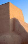 Detail of adobe buttress, San Francisco de Assisi church, Ranchos de Taos, New Mexico