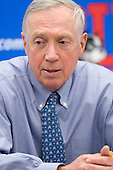 Jerry York (BC - Head Coach) - The visiting Boston College Eagles defeated the Boston University Terriers 3-2 to sweep their Hockey East series on Friday, January 21, 2011, at Agganis Arena in Boston, Massachusetts.
