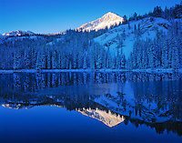 Sunrise at Silver Lake, Wasatch-Cache National Forest, Utah Wasatch Mountains near Salt Lake City