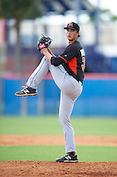 Miami Marlins pitcher Jordan Holloway (34) during an Instructional League game against the New York Mets on September 29, 2016 at the Port St. Lucie Training Complex in Port St. Lucie, Florida.  (Mike Janes/Four Seam Images)