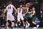 MILWAUKEE, WI - MARCH 16: Purdue Boilermakers forward Vince Edwards (12) reaches for a loose ball during the first half of the 2017 NCAA Men's Basketball Tournament held at BMO Harris Bradley Center on March 16, 2017 in Milwaukee, Wisconsin. (Photo by Jamie Schwaberow/NCAA Photos via Getty Images)