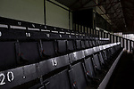 Chorley 2 Altrincham 0, 21/01/2017. Victory Park, National League North. Seats in the main stand at Victory Park, before Chorley played Altrincham in a Vanarama National League North fixture. Chorley were founded in 1883 and moved into their present ground in 1920. The match was won by the home team by 2-0, watched by an above-average attendance of 1127. Photo by Colin McPherson.