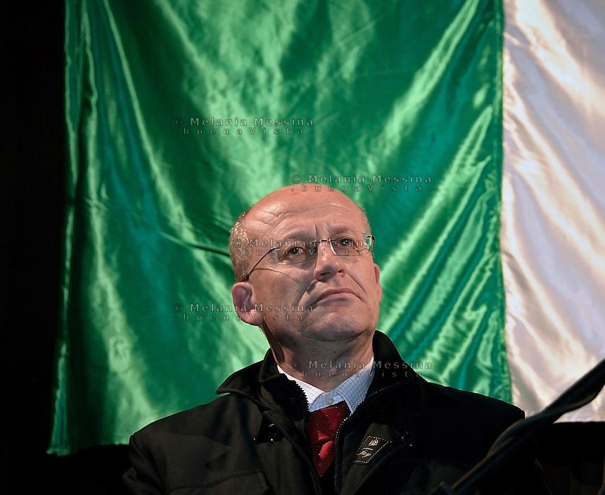 Palermo: Carmelo Briguglio con  Gianfranco Fini in via D'Amelio