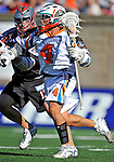 23 August 2008: Los Angeles Riptide Attackman Michael Watson in action against the Denver Outlaws during the Semi-Finals of the Major League Lacrosse Championship Weekend at Harvard Stadium in Boston, MA. The Outlaws edged out the Riptide 13-12, advancing to the upcoming Championship Game.. .Mandatory Photo Credit: Ed Wolfstein Photo