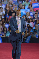 MIAMI, FL - JULY 23: U.S.Congressman Alcee Hastings speaks during a rally for the Democratic Presumptive Nominee for President and former Secretary of State Hillary Clinton and the Democratic candidate for Vice President, U.S. Senator Tim Kaine (D-VA) at the Florida International University Panther Arena in Miami, Florida on July 23, 2016. With two days to go until the Democratic National Convention, Hillary Clinton is campaigning in Florida.  Credit: MPI10 / MediaPunch