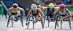 RIO DE JANEIRO - 17/9/2016:  Diane Roy competes in the women's 800m T54 heats at the Olympic Stadium during the Rio 2016 Paralympic Games. (Photo by Dave Holland/Canadian Paralympic Committee).