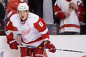 Justin Abdelkader (Detroit Red Wings, #8) at warm up during ice-hockey match between Los Angeles Kings and Detroit Red Wings in NHL league, February 28, 2011 at Staples Center, Los Angeles, USA. (Photo By Matic Klansek Velej / Sportida.com)