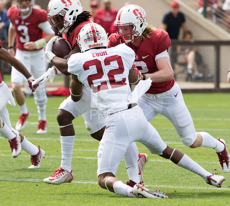 Stanford, CA - April15, 2017:  Obi Eboh (22) at Cagan Stadium.
