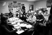 Columbus, Ohio.USA.October 24, 2004..Frantic and hectic office for the democratic party in Columbus as they prepare to canvas, call, and prepare for the final days of the election campaign.