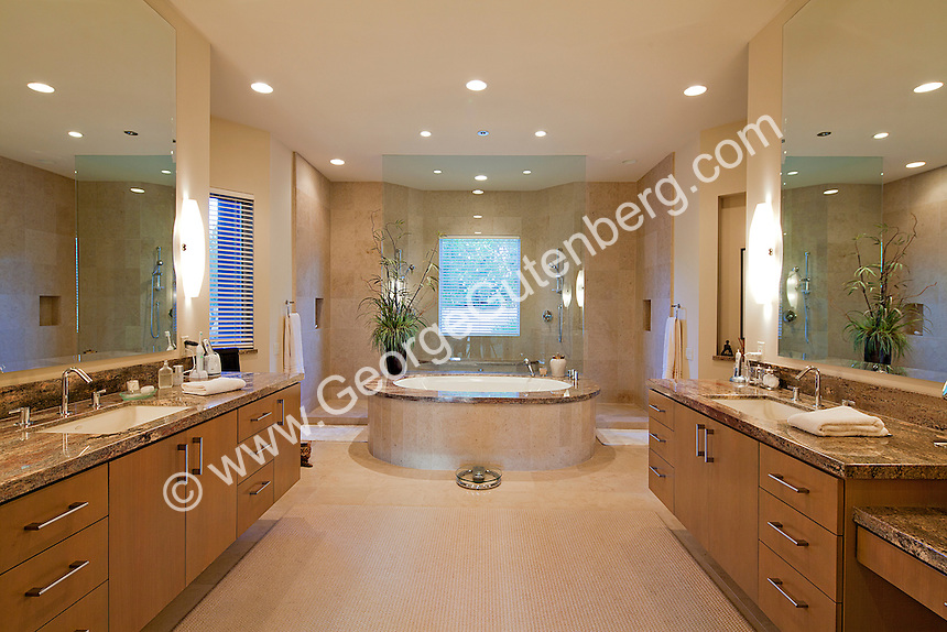 Stock photo of residential master bathroom stock photo of for Large luxury bathrooms