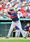 8 March 2012: Boston Red Sox outfielder Alex Hassan in action during a Spring Training game against the St. Louis Cardinals at Roger Dean Stadium in Jupiter, Florida. The Cardinals defeated the Red Sox 9-3 in Grapefruit League action. Mandatory Credit: Ed Wolfstein Photo