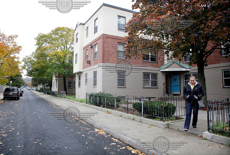 Th housing project in south Boston where Zeituni Onyango, the aunt of Barack Obama, lives. Exclusive picture taken by Tom Pilston / Panos for the Times.