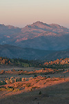 Morning alpenglow on Raymond Peak, Toiyabe National Forest, California