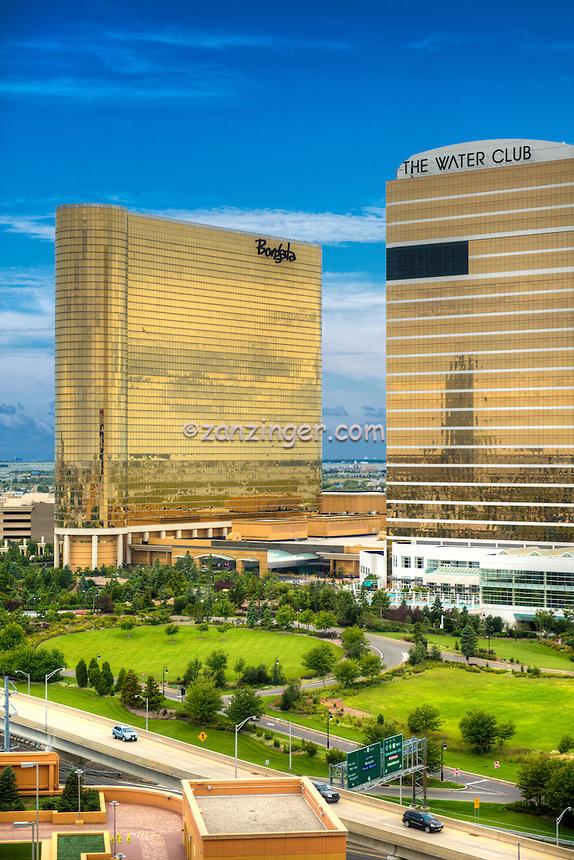 Borgata Hotel Casino, The Water Club, Atlantic City World-famous Boardwalk, Sand, Resort hotels,  Architecture;  New Jersey; Seaside Resort;