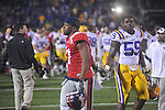 Ole Miss' Jamal Mosley (17) and LSU defensive lineman Jermauria Rasco (59)  at Vaught-Hemingway Stadium in Oxford, Miss. on Saturday, November 19, 2011. LSU won 52-3.