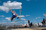 Lewiston sophomore Mason Schumaker long jumps during the YMCA Track and Field Invite on April 28, 2012 at Rocky Mountain High School, Meridian, Idaho. Schumaker placed sixth with a jump of 20-02.25.